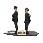 THE BLUES BROTHERS Box 2 Figure 17cm ELWOOD e JAKE Diorama ORIGINALE Sd Toys