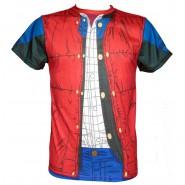 RITORNO AL FUTURO T-Shirt MARTY McFLY Maglietta VHS BOX Ufficiale SD TOYS Costume Cosplay