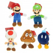 Plush SUPER MARIO BROS U 15cm Character YOU CHOOSE Original Official NINTENDO Jakks Pacific