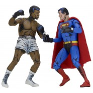 BOX 2 Figure Action 17cm SUPERMAN Versus MUHAMMAD ALI Cassius Clay 1978 ORIGINALE Neca