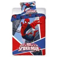 Cotton BED Set DUVET COVER 160x200cm SPIDER MAN Flying Between Buildings ORIGINAL Marvel