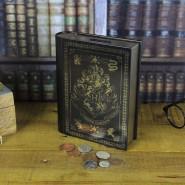 HARRY Potter Official HOGWARTS School SAVINGS BANK Official Metal Book