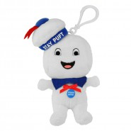 GHOSTBUSTERS Plush 13cm MARSHMALLOW MAN STAY PUFT  Happy Smiling Keyring WITH SOUND