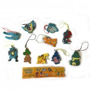 POKEMON Set 10 Mini Figures DIAMOND and PEARL Danglers Pikachu Lucario ORIGINAL