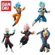 DRAGONBALL SUPER Set Completo 5 FIGURE Collezione BATTLE FIGURES SERIES 01 Bandai Gashapon