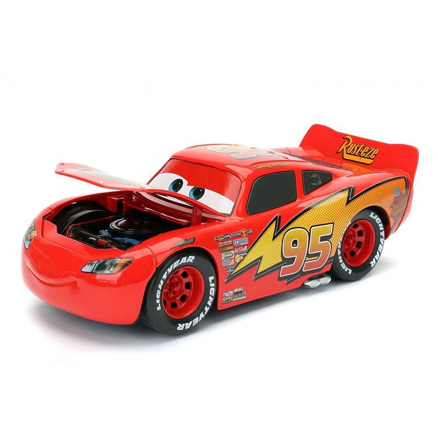 cars 1 24 scale model lightning mcqueen disney pixar jada. Black Bedroom Furniture Sets. Home Design Ideas