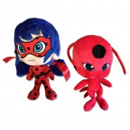 Couple 2 Plushies 24cm MARINETTE and Kwami TIKKI From Cartoon MIRACULOUS LADYBUG Original