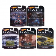 HALO Set 5 Modellini VEICOLI in Scala MATTEL Hot Wheels DIE CAST