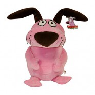 LEONE CANE FIFONE Peluche GRANDE 45cm ORIGINALE UFFICIALE Courage Cowardly Dog