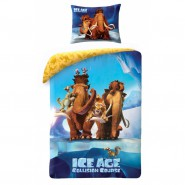 BED SET Duvet Cover ICE AGE Collision Course MANNY and ELLIE etc. 140x200 100% COTTON
