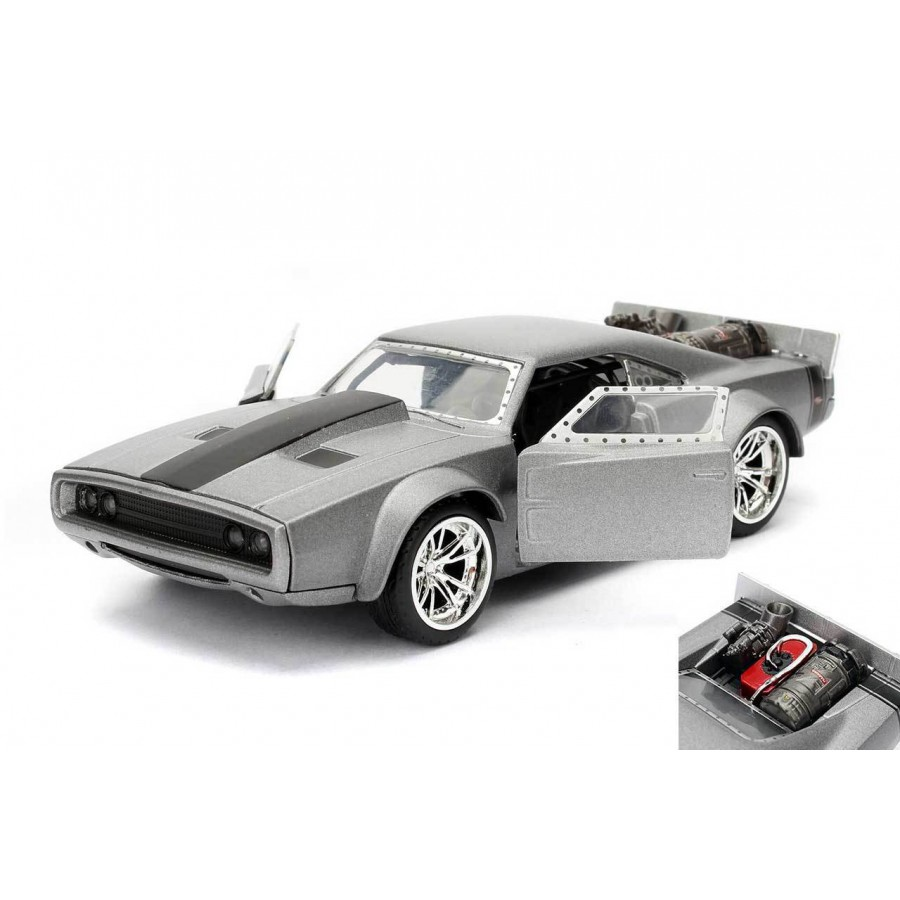 fast and furious model dom 39 s ice charger grey 1 32 collector 39 s series original jada toys. Black Bedroom Furniture Sets. Home Design Ideas