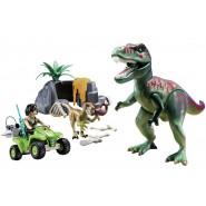 Playset Tirannosauro T-REX con QUAD e GROTTA etc. Playmobil DINOS 9231