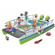 Playset BOAT WITH TRANPARENT BOTTOM and ENGINE Sport Action 9233 Limited Edition