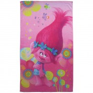 Beach Towel TROLLS Poppy In the FLOWERS 120x70cm Original DREAMWORKS