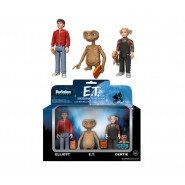E.T. EXTRATERRESTRIAL Box 3 FIGURES 10cm ET Elliot and Gertie FUNKO ReACTION