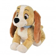 Plush 25cm LADY LILLY from Lady and the Tramp DISNEY Animal Friends Original OFFICIAL Hologram