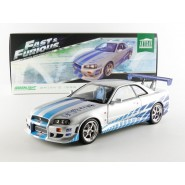 FAST and FURIOUS Model BRIAN's NISSAN SKYLINE GT-R R34 1/18 Original Greenlight ARTISAN