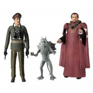 Dr Who BOX 3 FIGURE Collezione THE DAEMONS 3rd Doctor ORIGINALI