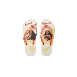 59935f7503bc Send to a friend. SLIPPERS Thongs MOANA and PUA Flip Flops BEIGE Girl DISNEY  ...