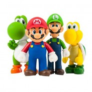 SUPER MARIO Box Set 4 Figures LARGE Collection 12cm Official NINTENDO Together Plus