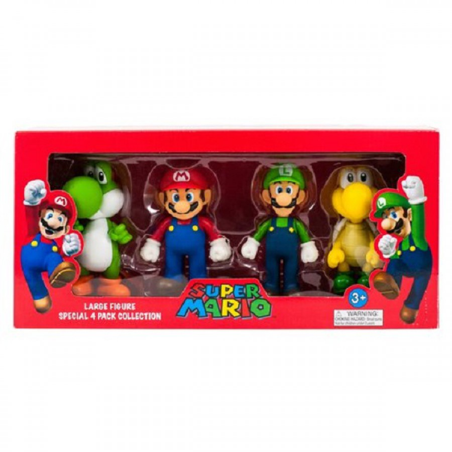 super mario box set 4 figures large collection 12cm. Black Bedroom Furniture Sets. Home Design Ideas