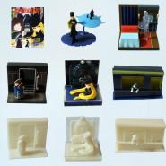 Set 8 Figure GALAXY EXPRESS 999 Vignette ORIGINALI Trading Figures JAPAN Nuove