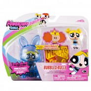 POWERPUFF GIRLS Playset Figure BUBBLES Aura Power Pod DOLL Pull Back CARTOON NETWORK Spin Master
