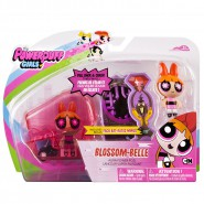 POWERPUFF GIRLS Playset Figure BLOSSOM Aura Power Pod DOLL Pull Back CARTOON NETWORK Spin Master