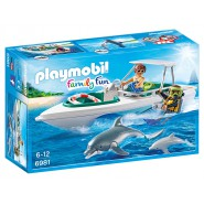 Playset SUB SPEEDBOAT with DOLPHIN Playmobil 6981 Family Fun
