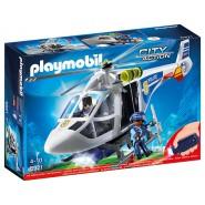 Playset ELICOTTERO della POLIZIA con LUCE AVVISTAMENTO Playmobil 6921 City Action