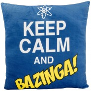 Cuscino KEEP CALM AND BAZINGA 40x40cm Originale THE BIG BANG THEORY