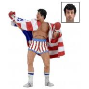 Figura Action 18cm ROCKY BALBOA con BANDIERA USA Rocky 40th Anniversario SERIE 2 Neca