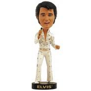 Figura Statuetta 20cm ELVIS PRESLEY Vestito Bianco ALOHA HAWAII Bobble Head ROYAL BOBBLES