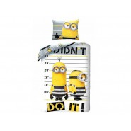DESPICABLE ME 3 Bed Set MINION Didn't Do It DUVET COVER 140x200cm Cotton ORIGINAL