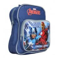 ZAINO Zainetto Scuola AVENGERS Iron Man e Capitan America 27x21cm UFFICIALE Marvel