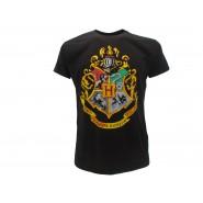 HARRY POTTER T-Shirt Maglietta STEMMA HOGWARTS Logo Scuola UFFICIALE Warner Bros