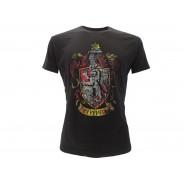 HARRY POTTER T-Shirt Maglietta STEMMA Casa GRIFONDORO Logo UFFICIALE Warner Bros