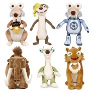 Peluche ICE AGE 4 Scrat Sid Manny Diego Buck 30cm in BOX Official FAMOSA