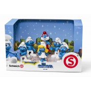 BOX SET 6 Figure PUFFI il Film ORIGINALI Schleich 41260 SMURFS Figures