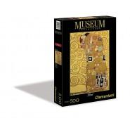 PUZZLE in 500 Pezzi L'ABBRACCIO Gustav Klimt MUSEUM COLLECTION Clementoni 30316