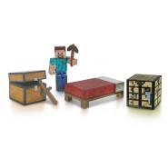 MINECRAFT Set Figure KIT SOPRAVVIVENZA Survival Pack con STEVE Originale GIOCHI PREZIOSI