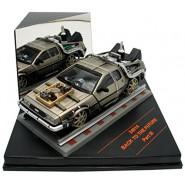 BACK TO THE FUTURE 3 Model DE LOREAN on Rails 1:43 ORIGINAL Vitesse 24014
