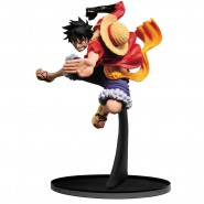 ONE PIECE Figura Statua RUBBER Monkey D Luffy COLOR version 18cm BANPRESTO Colosseum SCultures BIG 6 Rubber