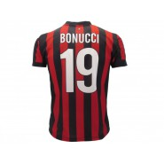 Leonardo BONUCCI Number 19 MILAN 2017/2018 T-Shirt Jersey HOME Official Replica