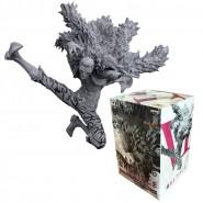 ONE PIECE Figura Statua RUBBER Monkey D Luffy BLACK AND WHITE version 18cm BANPRESTO Colosseum SCultures BIG 6 Vol. 3