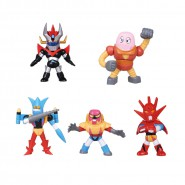 GO NAGAI Collection Vol. 1 SET Completo 5 Mini FIGURE ROBOT Tomy GOLDRAKE MAZINGA JEEG DEVILMAN Gashapon JAPAN
