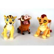 SET COMPLETO 3 Peluche LION GUARD Kion Fuli e Pumbaa GRANDI 30cm Originali Disney