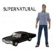 SUPERNATURAL Modellino CHEVROLET IMPALA 1:64 e Figura SAM WINCHESTER Originale GREENLIGHT Collectibles
