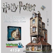 HARRY POTTER Diorama THE BURROW WEASLEY FAMILY HOUSE Puzzle 415 PIECES Official WREBBIT 3D