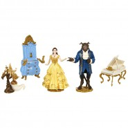 BOXED Set 5 Figures 10cm BEAUTY AND THE BEAST Movie DISNEY 2017 Original JAKKS PACIFIC
